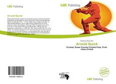 Bookcover of Arnold Quick