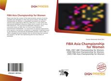 Copertina di FIBA Asia Championship for Women