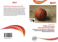 Capa do livro de FIBA Oceania Championship 2003