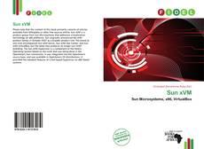 Bookcover of Sun xVM