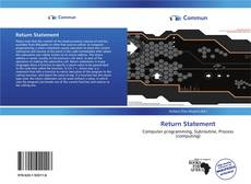 Buchcover von Return Statement