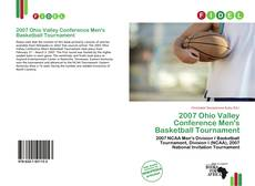 Bookcover of 2007 Ohio Valley Conference Men's Basketball Tournament