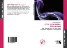 Bookcover of 2009 WGC-HSBC Champions