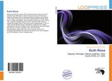 Copertina di Ruth Riese