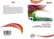 Bookcover of Ahsha Rolle