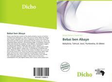 Bookcover of Bebai ben Abaye