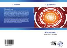 Bookcover of Adequacy.org