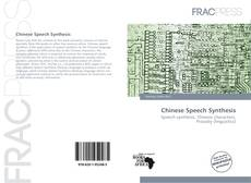 Capa do livro de Chinese Speech Synthesis