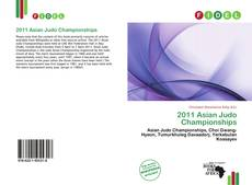 Bookcover of 2011 Asian Judo Championships