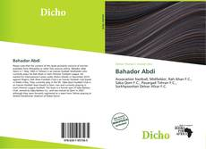 Bookcover of Bahador Abdi