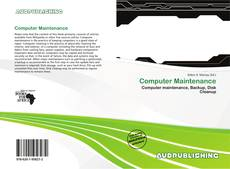Bookcover of Computer Maintenance