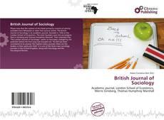 Borítókép a  British Journal of Sociology - hoz