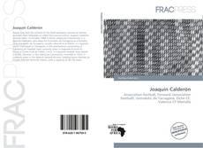 Portada del libro de Joaquín Calderón