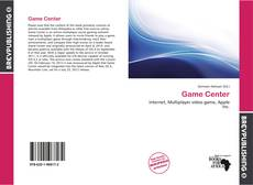 Bookcover of Game Center