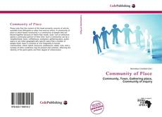 Portada del libro de Community of Place