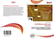 Bookcover of 2003 Minnesota Lynx Season