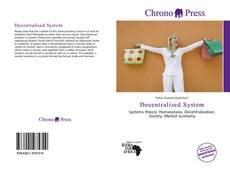 Bookcover of Decentralised System