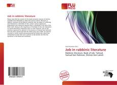 Couverture de Job in rabbinic literature