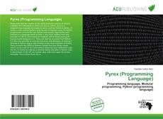 Capa do livro de Pyrex (Programming Language)