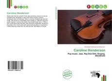 Capa do livro de Caroline Henderson