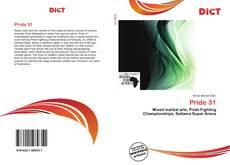 Capa do livro de Pride 31