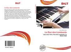 Le Duc des Lombards kitap kapağı