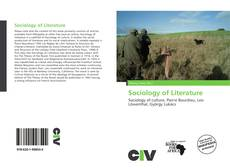 Sociology of Literature kitap kapağı