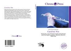 Capa do livro de Caroline Nin