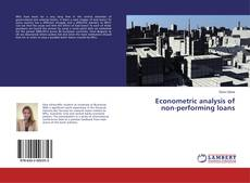 Capa do livro de Econometric analysis of non-performing loans