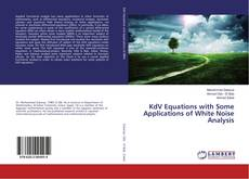 Bookcover of KdV Equations with Some Applications of White Noise Analysis
