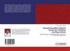 Bookcover of Russell Saunders Atomic Terms for f-Orbital Configurations