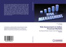 Buchcover von Risk Assessment in Indian Financial Markets