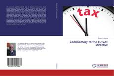 Bookcover of Commentary to the EU VAT Directive