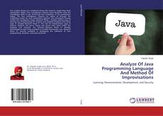 Bookcover of Analyze Of Java Programming Language And Method Of Improvisations