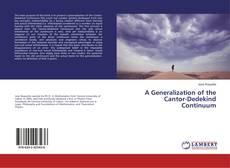Capa do livro de A Generalization of the Cantor-Dedekind Continuum