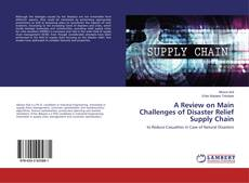 Bookcover of A Review on Main Challenges of Disaster Relief Supply Chain