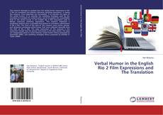 Capa do livro de Verbal Humor in the English Rio 2 Film Expressions and The Translation