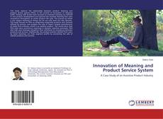 Buchcover von Innovation of Meaning and Product Service System