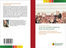 Capa do livro de Crise de (in)efetividade do texto constitucional