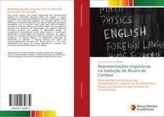 Capa do livro de Representações linguísticas na tradução de Álvaro de Campos