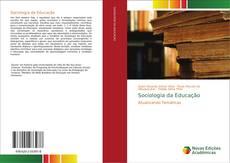 Sociologia da Educação kitap kapağı