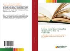 """Capa do livro de Leitura e escrita em redações """"desclassificadas"""" no vestibular"""