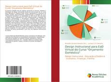 """Portada del libro de Design Instrucional para EaD Virtual do Curso """"Orçamento Doméstico"""""""
