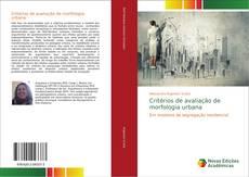 Capa do livro de Critérios de avaliação de morfologia urbana