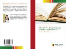 Capa do livro de Dificuldades de Aprendizage no Ensino de Matemática