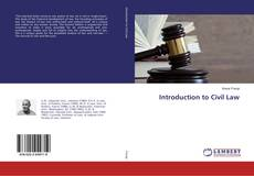 Bookcover of Introduction to Civil Law