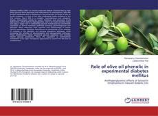 Buchcover von Role of olive oil phenolic in experimental diabetes mellitus