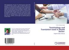 Buchcover von Terminology and Translation Used in Health Sector: