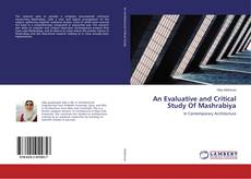 Capa do livro de An Evaluative and Critical Study Of Mashrabiya