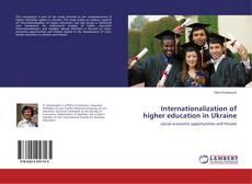 Capa do livro de Internationalization of higher education in Ukraine